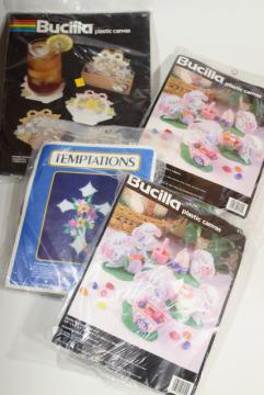 plastic canvas kits complete w/ yarn, Easter holiday decorations craft kit lot