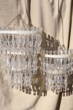 plastic prisms little chandelier lights, hanging light for plain single bulb fixtures