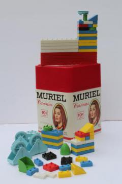 pre-lego vintage plastic bricks building toy construction set pieces lot
