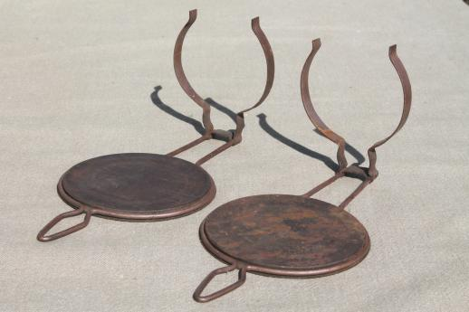 antique metal oil lamp reflectors, wall hanger lamp holders for ...