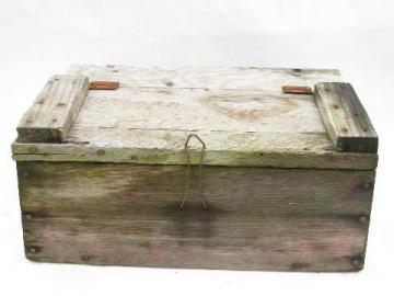 primitive antique vintage wood farm tool box original old wire latch Laurel Leaf Farm item no w10917t vintage wood and metal boxes state farm insurance fuse box at alyssarenee.co
