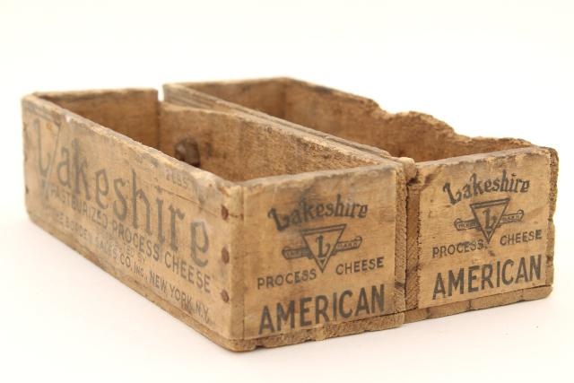 Primitive Rustic Wood Cubby Or Storage Tray, Old Wooden Lakeshire Cheese  Boxes