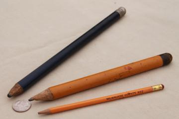 primitive style old antique wood pencils, children's school prize pencils?