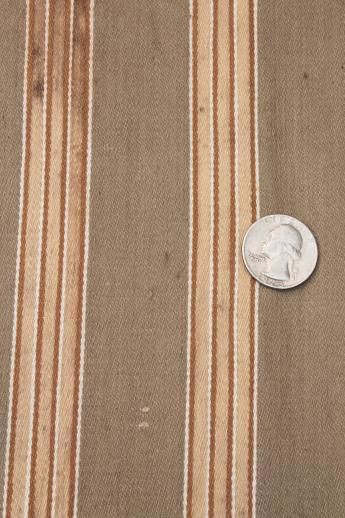 Primitive Vintage Ticking Rustic Striped Cotton Fabric