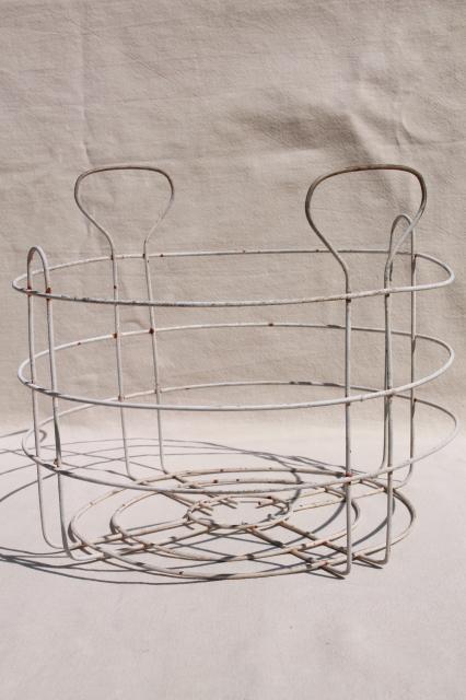 Primitive Vintage Wire Jar Rack W Canner Carrier