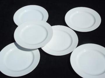 pure white porcelain plates, vintage Haviland France, Complice Blanc style