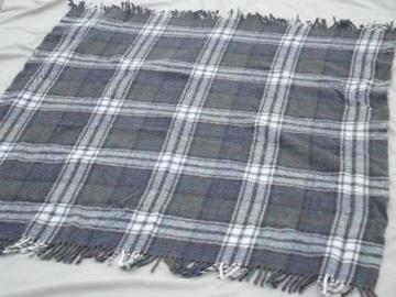 pure wool throw blanket handwoven in Scotland, muted dress MacDonald plaid