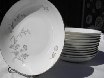 queen anne's lace & summer grasses, 12 vintage Johann Haviland soup bowls