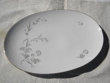 queen anne's lace & summer grasses, vintage Johann Haviland - Bavaria platter