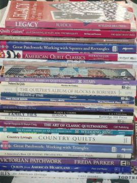 quilting books lot - patchwork quilt blocks, historic / vintage patterns