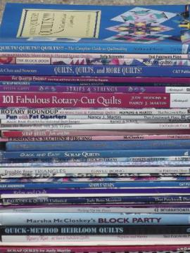 quilting books lot - patchwork quilt blocks, piecing patterns & techniques
