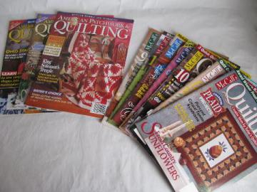 quilting magazines w/ quilt patterns & color photos, back issues lot