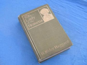 rare 1st edition The Lady of the Heavens H Ridder Haggard gilt binding