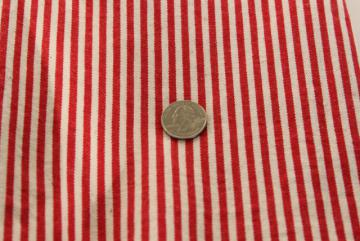 rare red hickory stripe vintage work wear clothes fabric railroad striped cotton