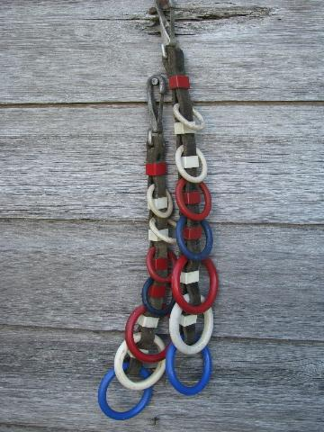 red and white hearts fancy old leather show horse / pony cart harness