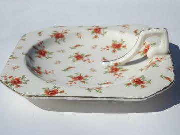 red rose chintz china lemon server handled plate vintage Japan : japanese square plates - Pezcame.Com