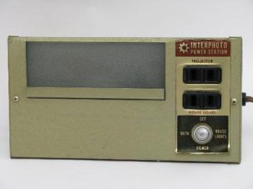 retro 1950's mid-century vintage Interphoto photography 35mm slide viewer/projector control