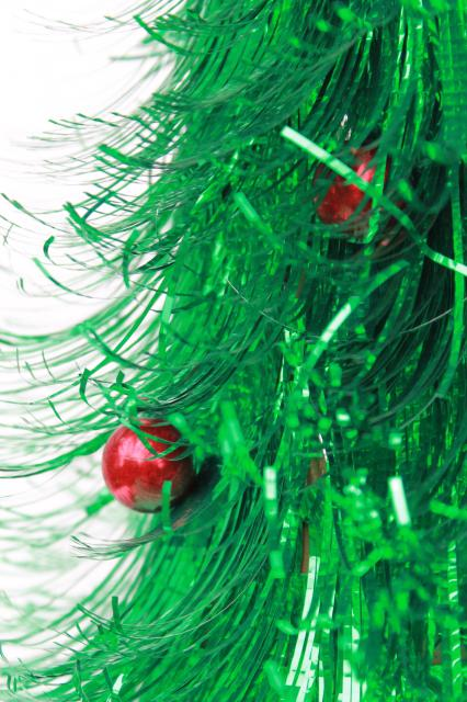 Retro 60s Vintage Christmas Decoration Fluffy Green