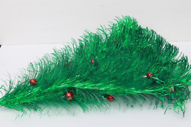 Retro 60s Vintage Christmas Decoration, Fluffy Green