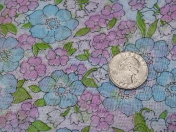 retro 60s vintage fabric, crisp and sheer w/ spring flowers print