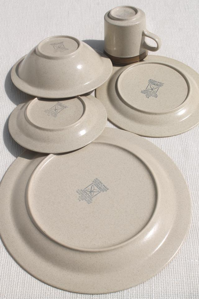 retro 70s vintage Autumn Wheat Japan stoneware pottery Sears dinnerware set for 8 : sears dinnerware sets - Pezcame.Com