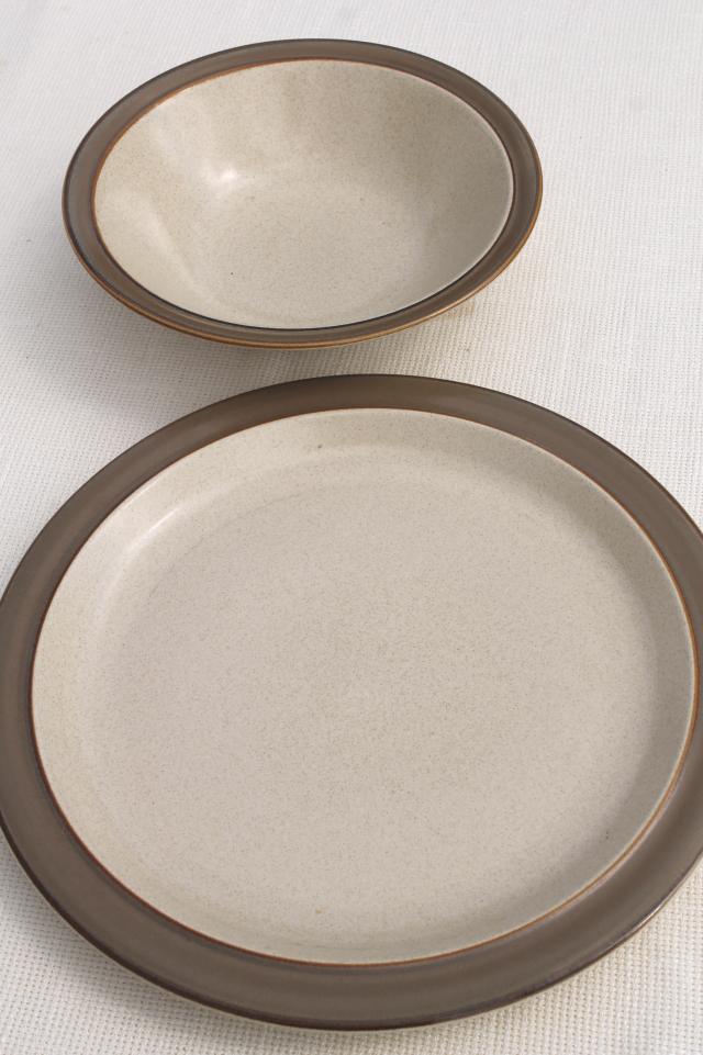 retro 70s vintage Autumn Wheat Japan stoneware pottery Sears dinnerware set for 8 & retro 70s vintage Autumn Wheat Japan stoneware pottery Sears ...