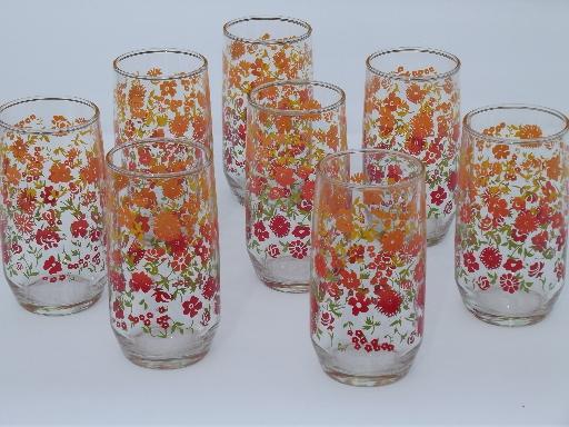 Retro Style Drinking Glasses