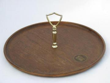 retro Thermo Serv 'walnut' melamine sandwich plate