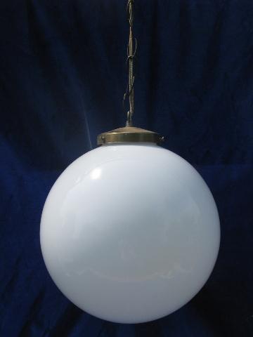 Retro Lighting 60s Mod Big Round Ball Hanging Lamp