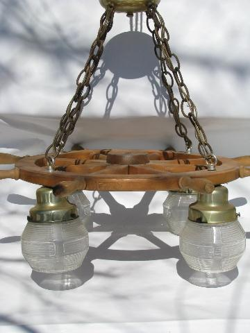 Retro nautical ships wheel hanging light lamp 1950s vintage mozeypictures Gallery