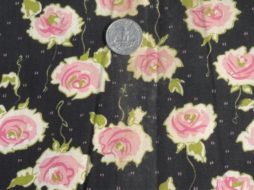 Fabric With Pink Roses Mod Rose Floral Fabric