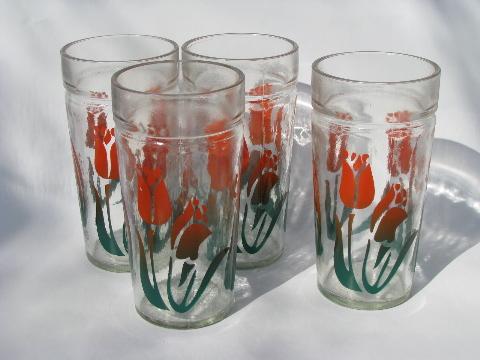 kitchen glasses vintage