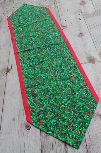 Country Christmas Table Runners