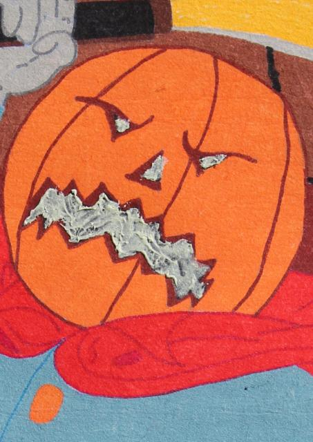 retro vintage halloween paint by number art poster wall hanging headless horseman - Halloween Pictures To Paint