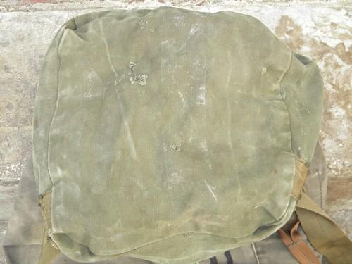 Retro Vintage Us Army Olive Drab Canvas Duffle Bag