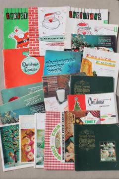 retro vintage holiday cookbooks lot, 50s 60s 70s vintage Christmas cookies recipes