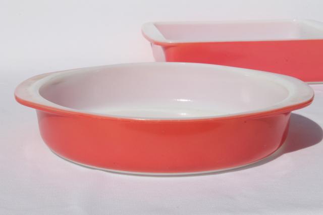 Retro Vintage Pink Pyrex Baking Dishes 221 Amp 222 Round