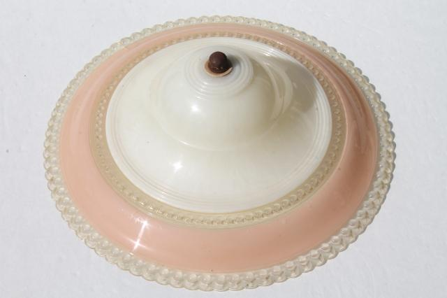 Clip on bulb ceiling light shade vintage plastic l shade clip on for retro vintage pink white plastic clip on l shade for clip on bulb ceiling light shade mozeypictures Gallery