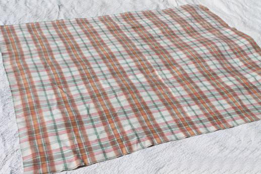 retro vintage plaid camp blankets for camping, tailgating, cabin bunk blankets