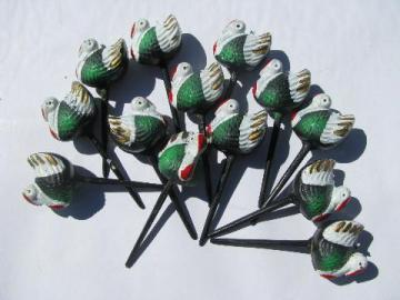 retro vintage plastic Thanksgiving turkey cupcake picks toppers