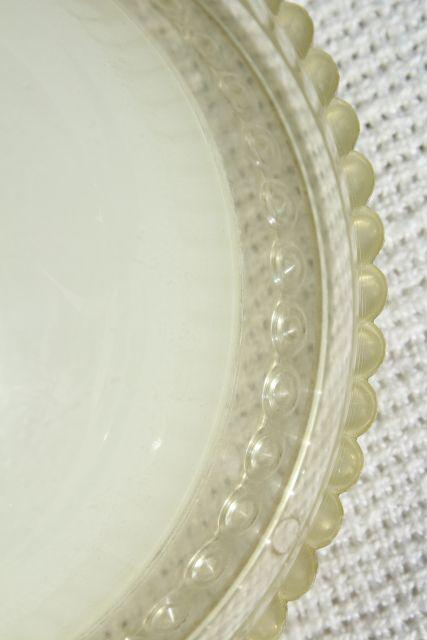 retro vintage plastic clip on lamp shade, shades for single bulbs or flush mount ceiling light fixture
