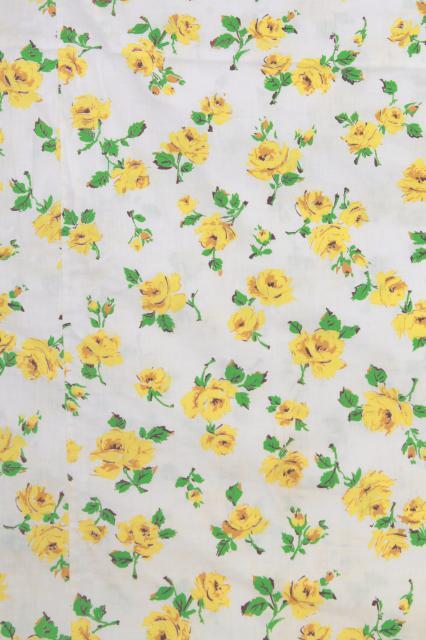 Retro Vintage Yellow Roses Print Pillowcases Amp Cotton