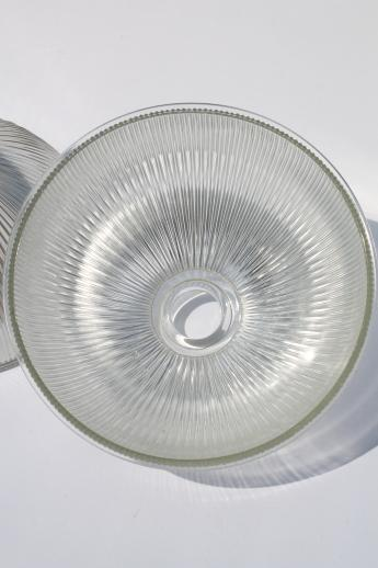 Glass industrial pendant light shades matched pair large clear ribbed glass industrial pendant light shades matched pair large clear glass lamp shade aloadofball Choice Image
