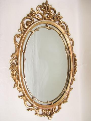 rococo baroque gold frame, 60s french country style mirror
