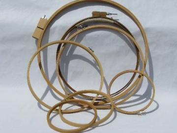 round wood needlework frames, hoops for embroidery, quilting