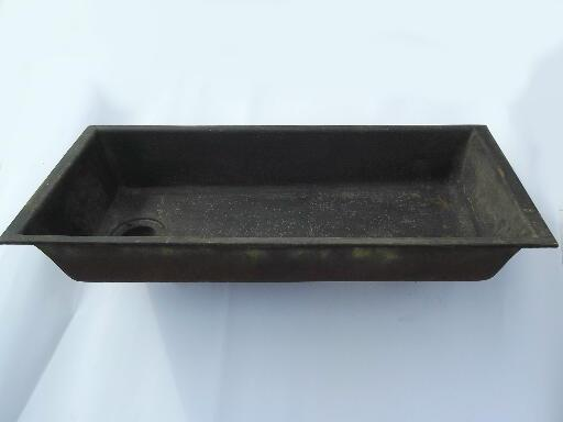 rustic antique cast iron sink, farmhouse laundry sink for kitchen porch