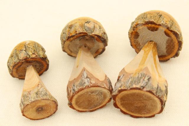 Ecodysgu u ecolearn chainsaw carved mushrooms