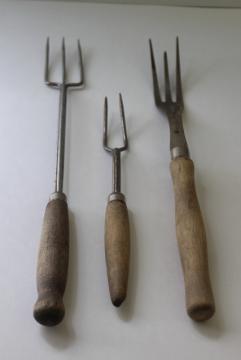 Rustic Old Toasting Forks U0026 Unusual Meat Fork, Antique Vintage Kitchen  Utensils