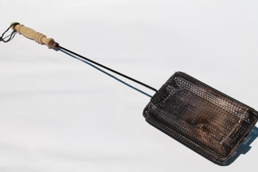 Rustic Vintage Campfire Popcorn Popper Wire Basket Corn