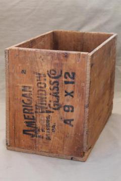 Antique Amp Primitive Wood Crates